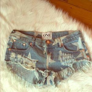 One Teaspoon Star Bonita Shorts